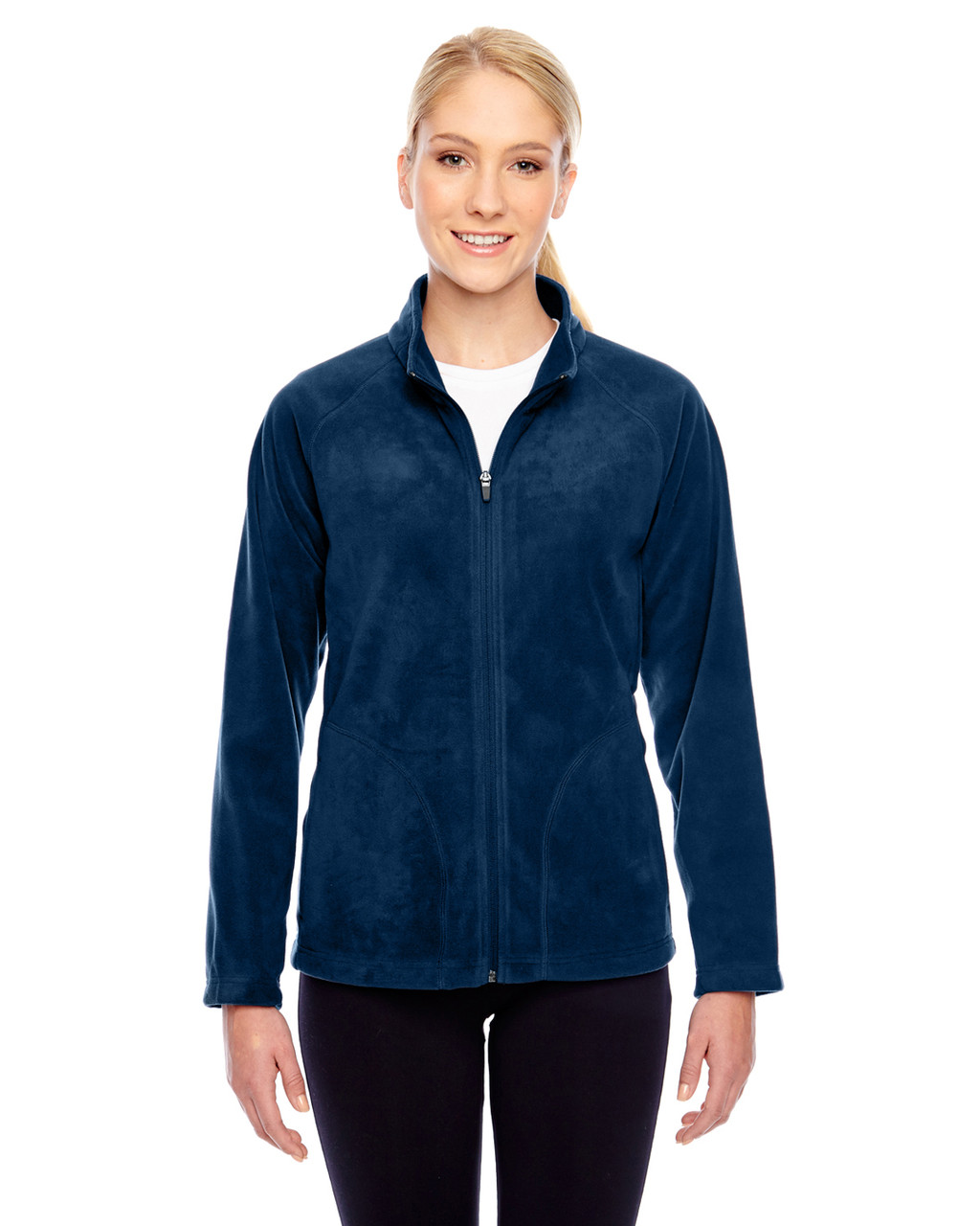 Dark Navy - TT90W Team 365 Ladies' Campus Microfleece Jacket | BlankClothing.ca