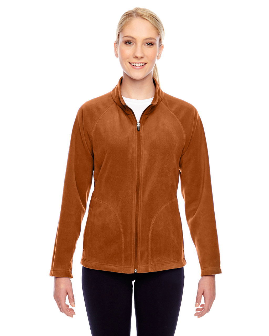 Burnt Orange - TT90W Team 365 Ladies' Campus Microfleece Jacket | BlankClothing.ca