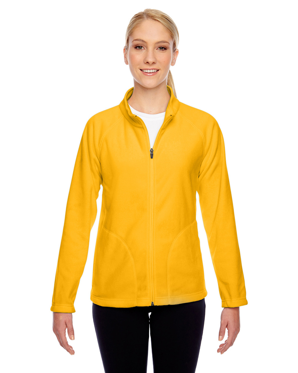 Athletic Gold - TT90W Team 365 Ladies' Campus Microfleece Jacket | BlankClothing.ca