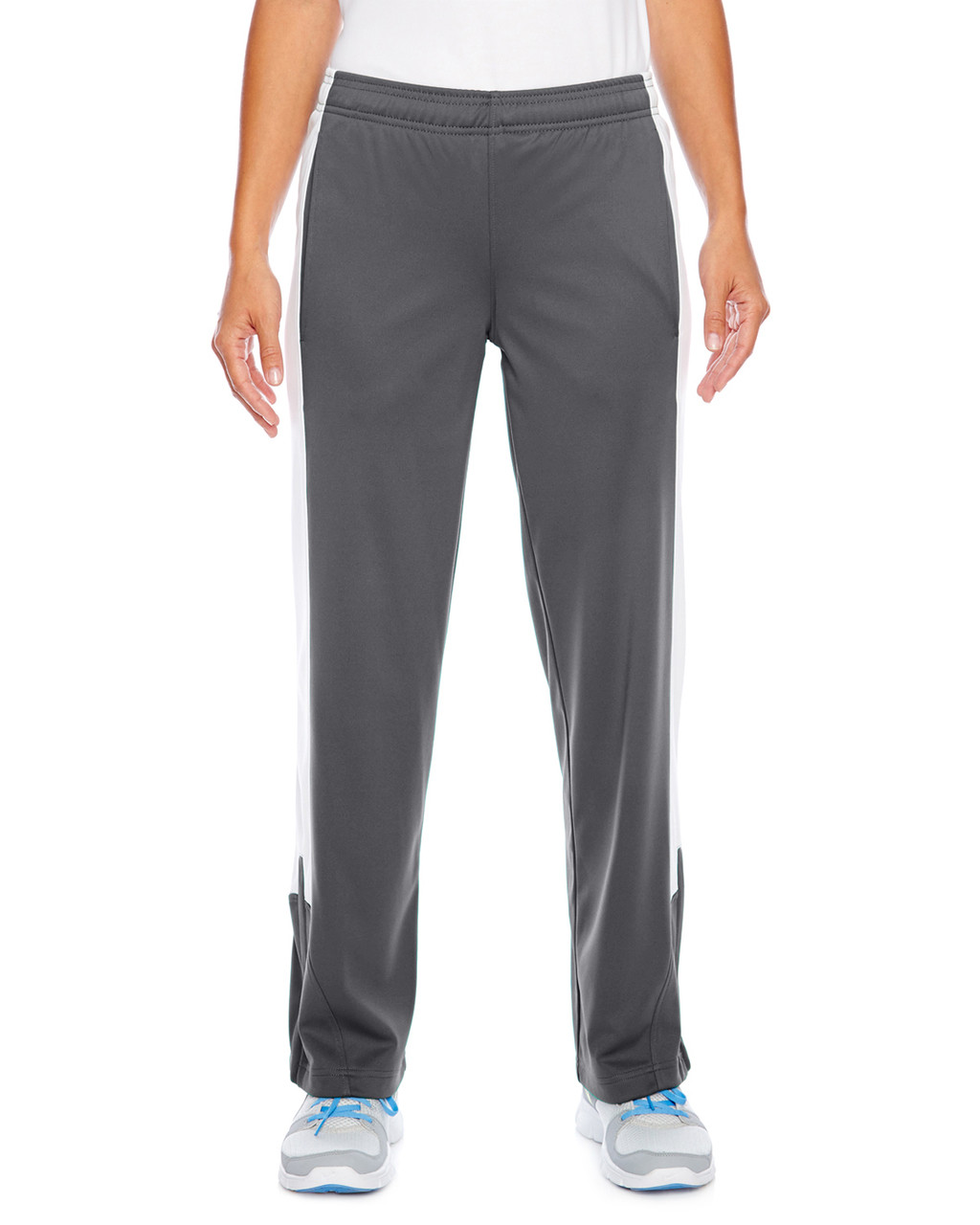 Graphite/White - TT44W Team 365 Ladies' Performance Fleece Pant | Blankclothing.ca