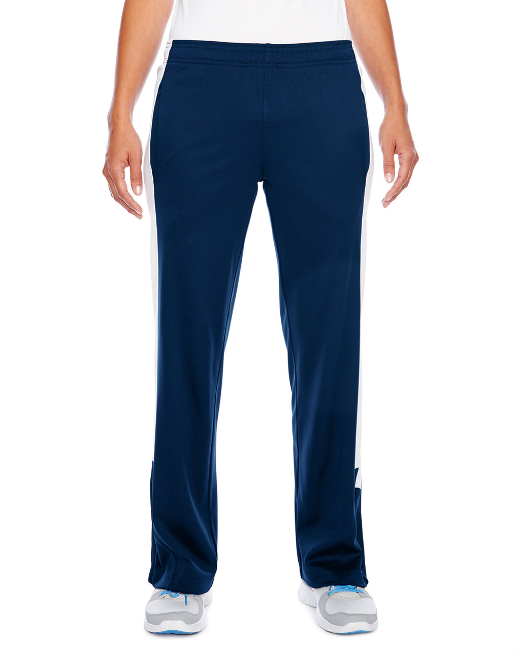Dark Navy/White - TT44W Team 365 Ladies' Performance Fleece Pant | Blankclothing.ca