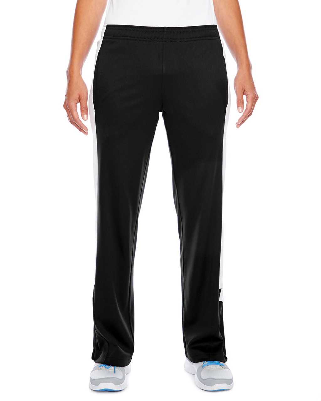 Black/White - TT44W Team 365 Ladies' Performance Fleece Pant | Blankclothing.ca
