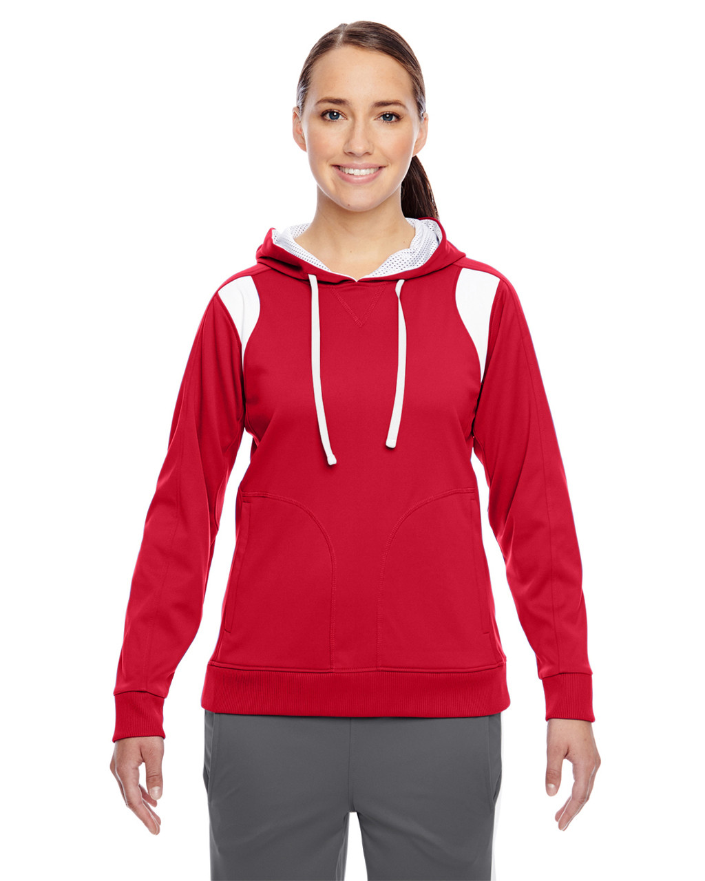 Red/White - TT30W Team 365 Ladies' Elite Performance Hoodie | Blankclothing.ca