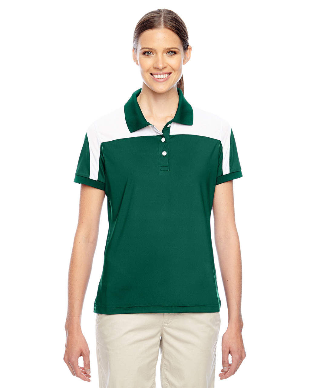 Forest/White - TT22W Team 365 Victor Performance Polo Shirt