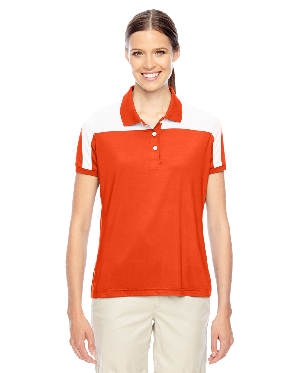 Orange/White - TT22W Team 365 Victor Performance Polo Shirt