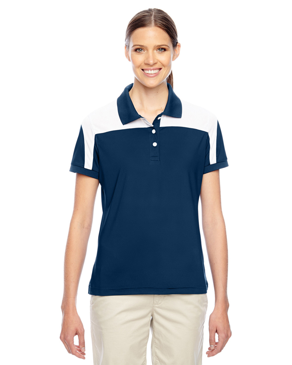 Dark Navy/White - TT22W Team 365 Victor Performance Polo Shirt