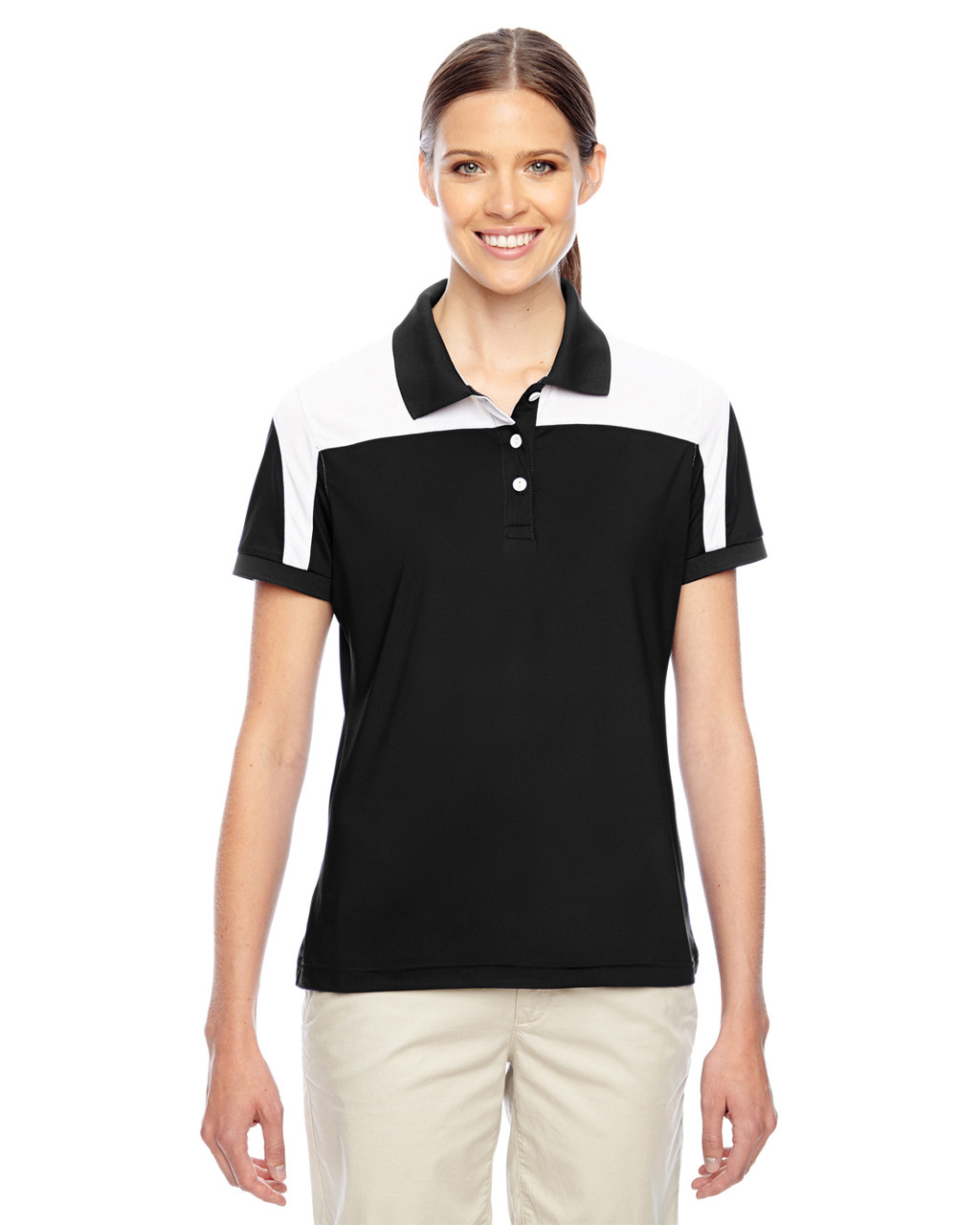 Black/White - TT22W Team 365 Victor Performance Polo Shirt
