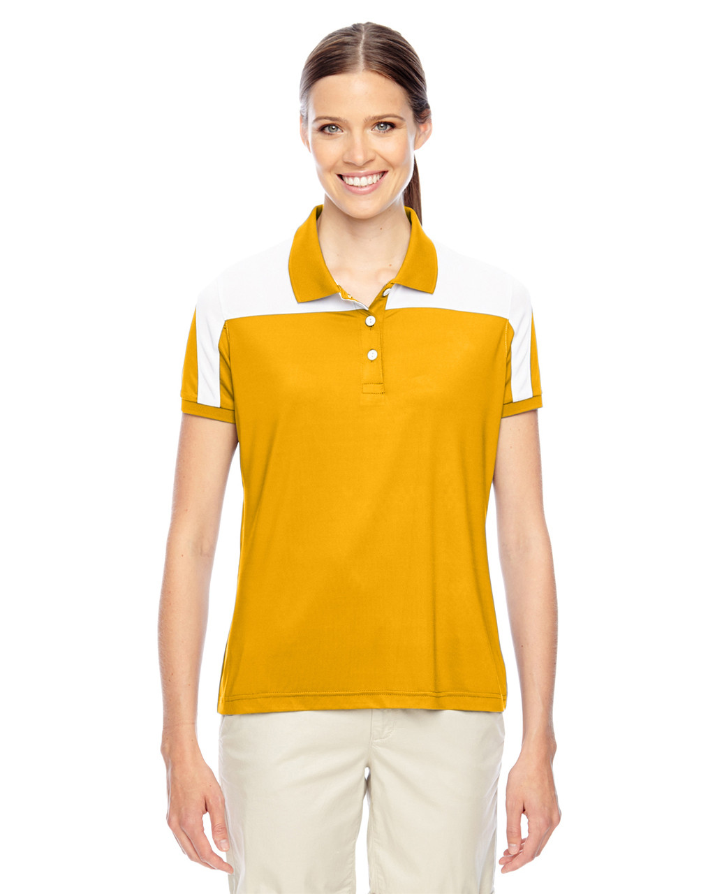 Athletic Gold/White - TT22W Team 365 Victor Performance Polo Shirt