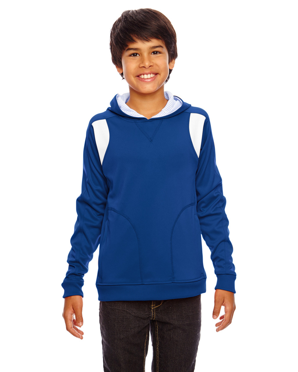 Royal/White - TT30Y Team 365 Youth Elite Performance Hoodie | BlankClothing.ca