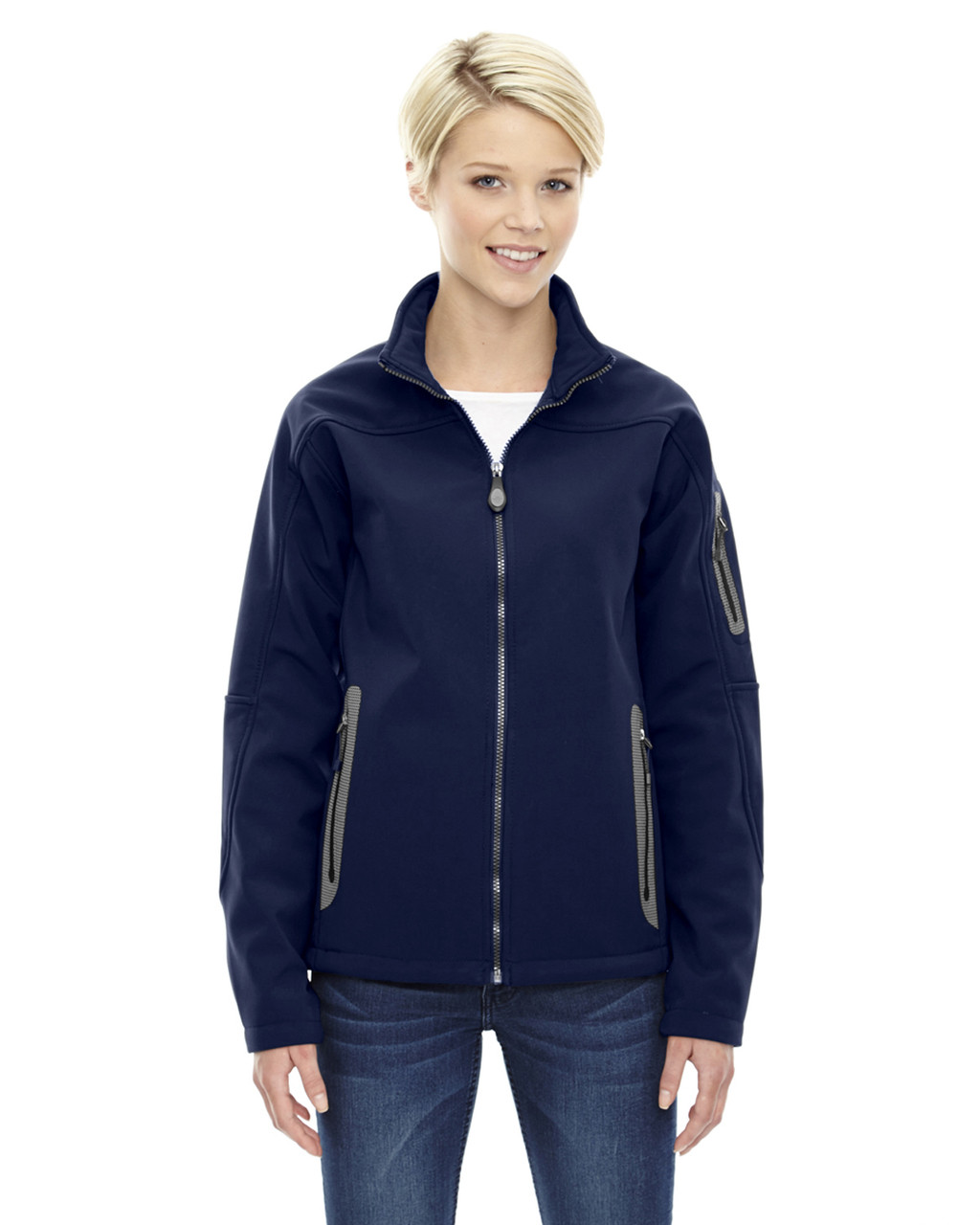 Classic Navy - 78060 North End Ladies' Soft Shell Technical Jacket | Blankclothing.ca