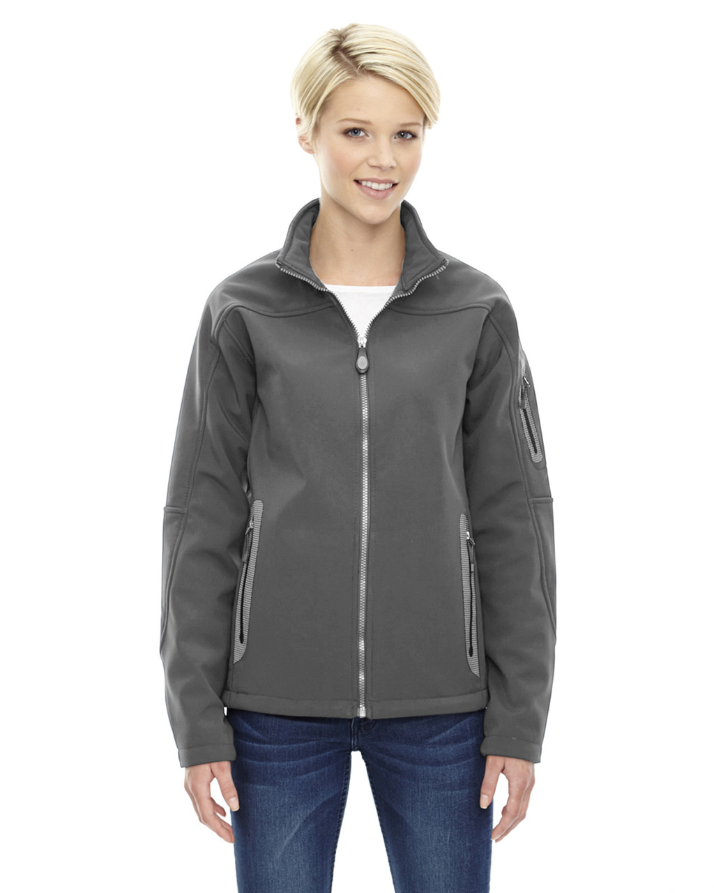 Graphite - 78060 North End Ladies' Soft Shell Technical Jacket | Blankclothing.ca