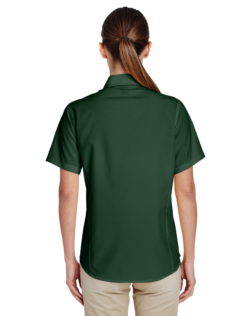 Palm Green, Back - M610SW Harriton Paradise Short-Sleeve Performance Shirt | BlankClothing.ca