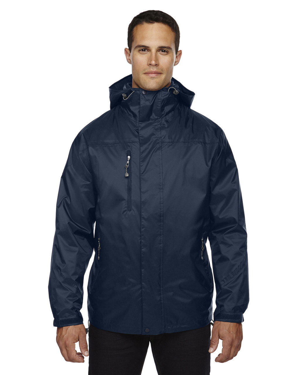 Midnight Navy - 88120 North End Men's 3-In-1 Techno Performance Seam-Sealed Hooded Jacket   Blankclothing.ca