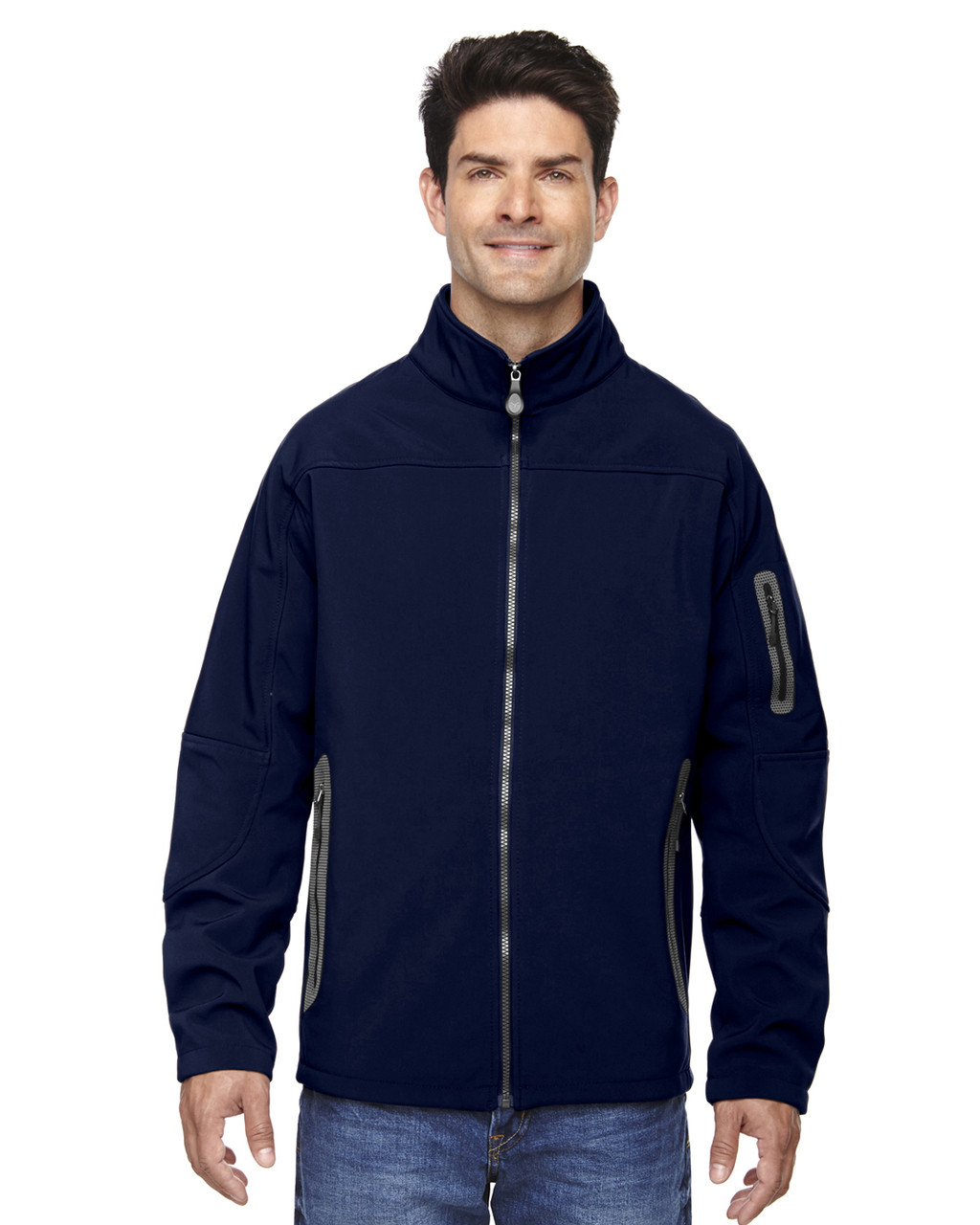 Classic Navy - 88138 North End Men's Soft Shell Technical Jacket   Blankclothing.ca