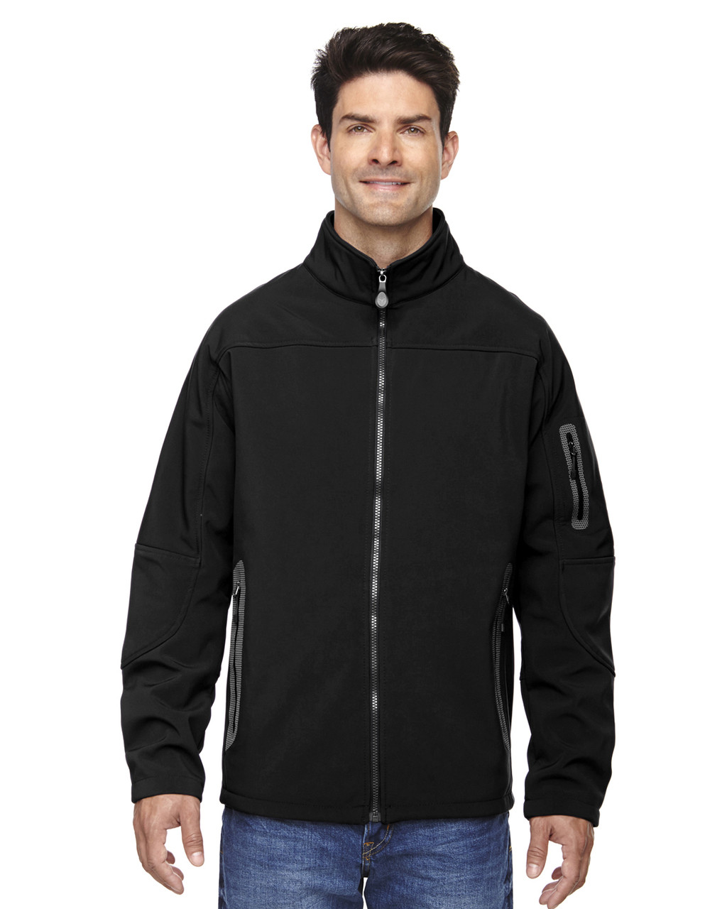 Black - 88138 North End Men's Soft Shell Technical Jacket | Blankclothing.ca