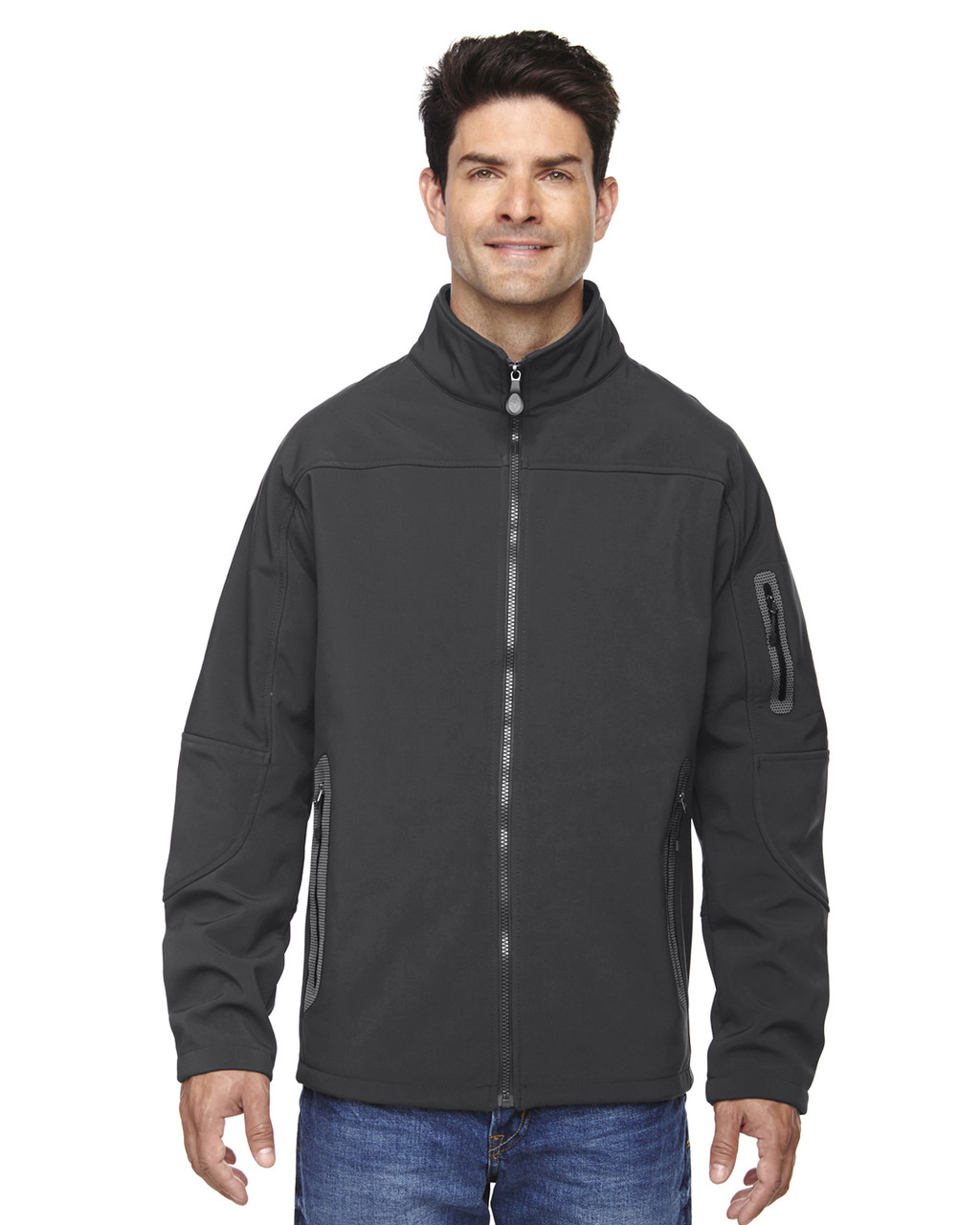 Graphite - 88138 North End Men's Soft Shell Technical Jacket   Blankclothing.ca