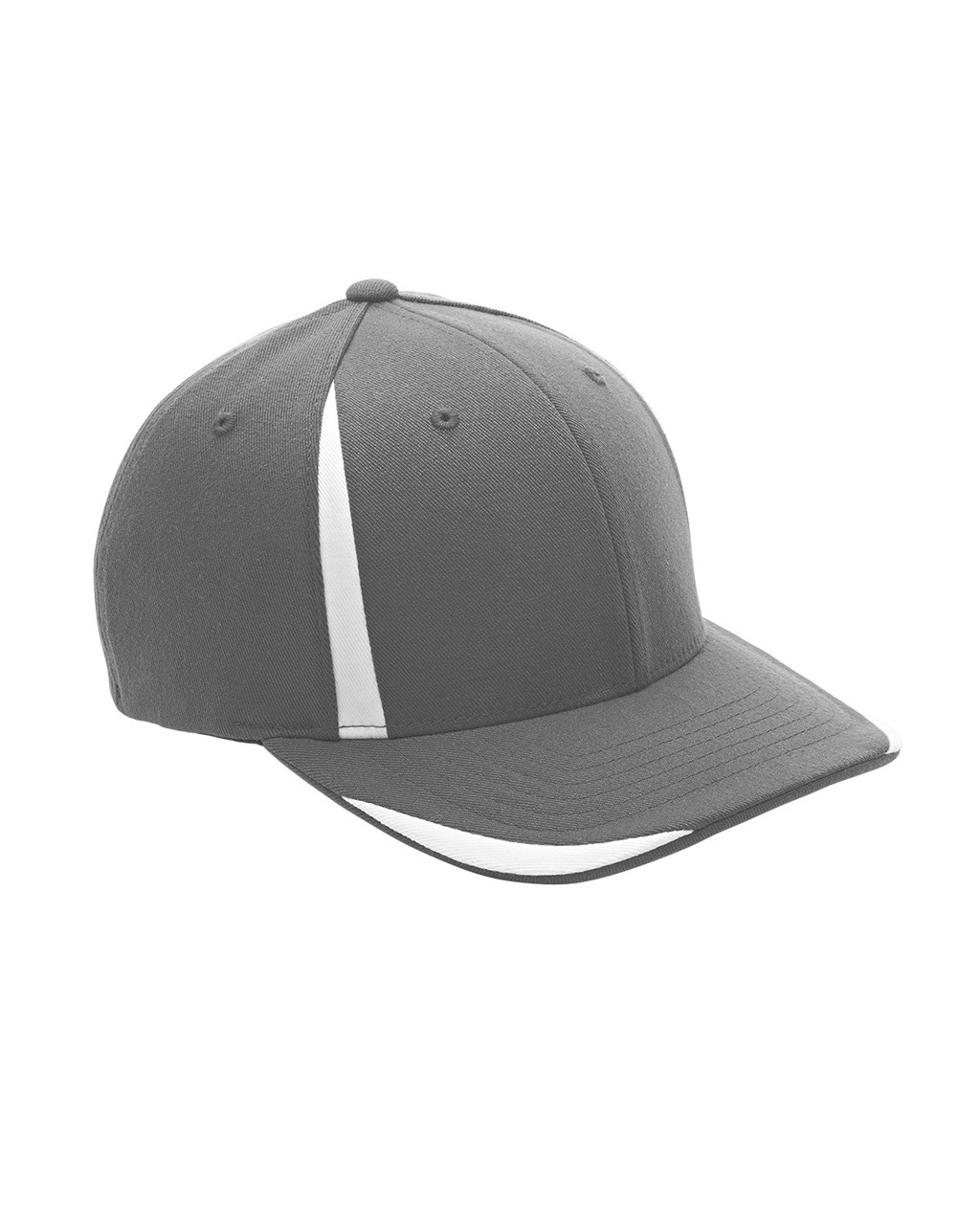 Graphite/White - ATB102 Flexfit for Team 365 Pro-Formance Front Sweep Cap