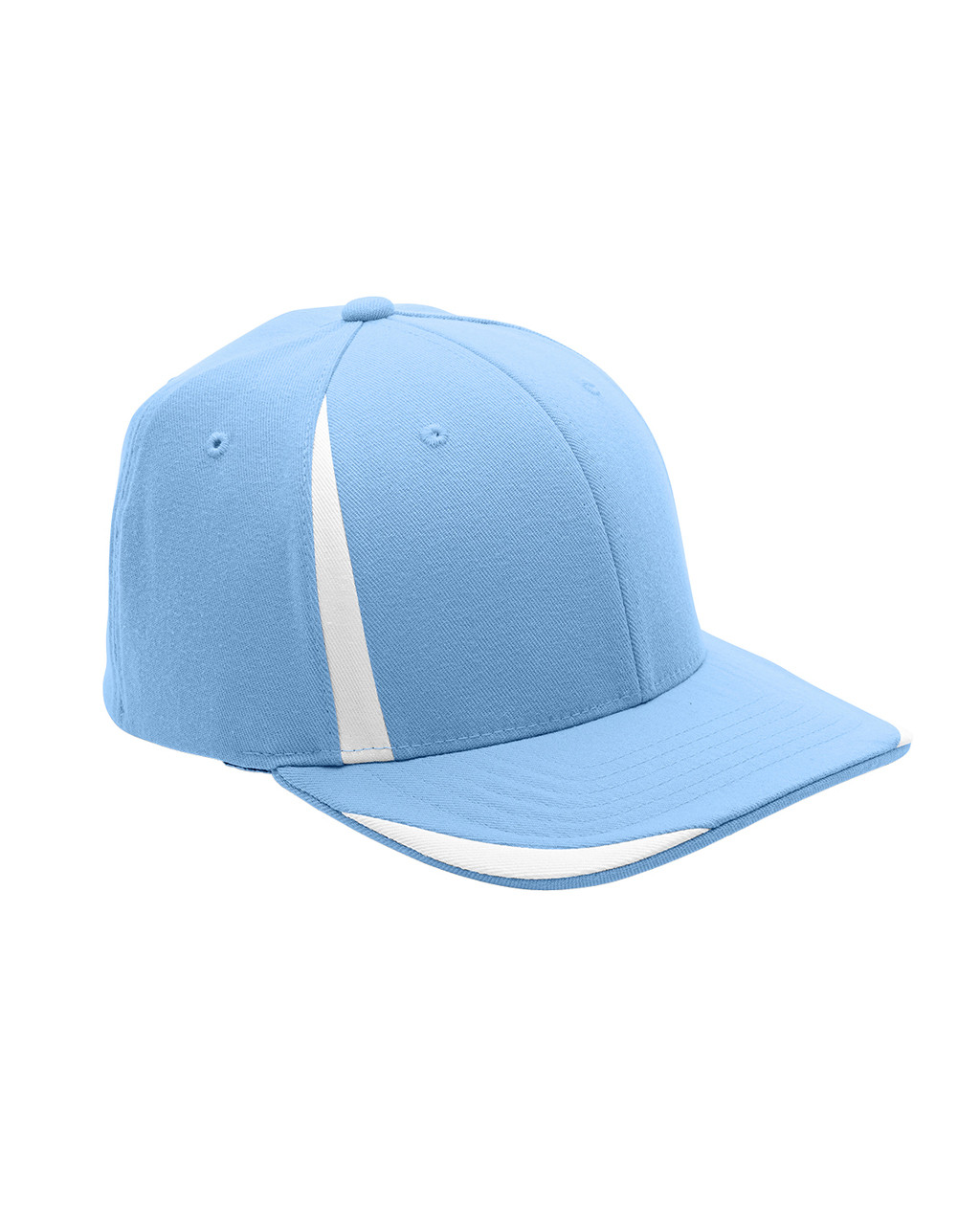 Light Blue/White - ATB102 Flexfit for Team 365 Pro-Formance Front Sweep Cap