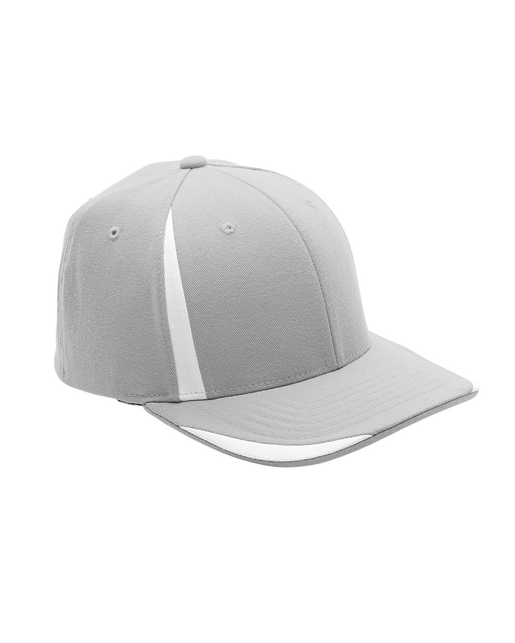 Silver/White - ATB102 Flexfit for Team 365 Pro-Formance Front Sweep Cap