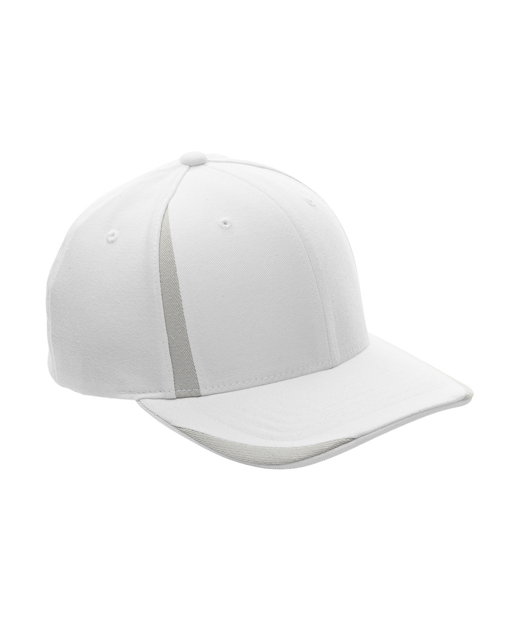 White/Silver - ATB102 Flexfit for Team 365 Pro-Formance Front Sweep Cap
