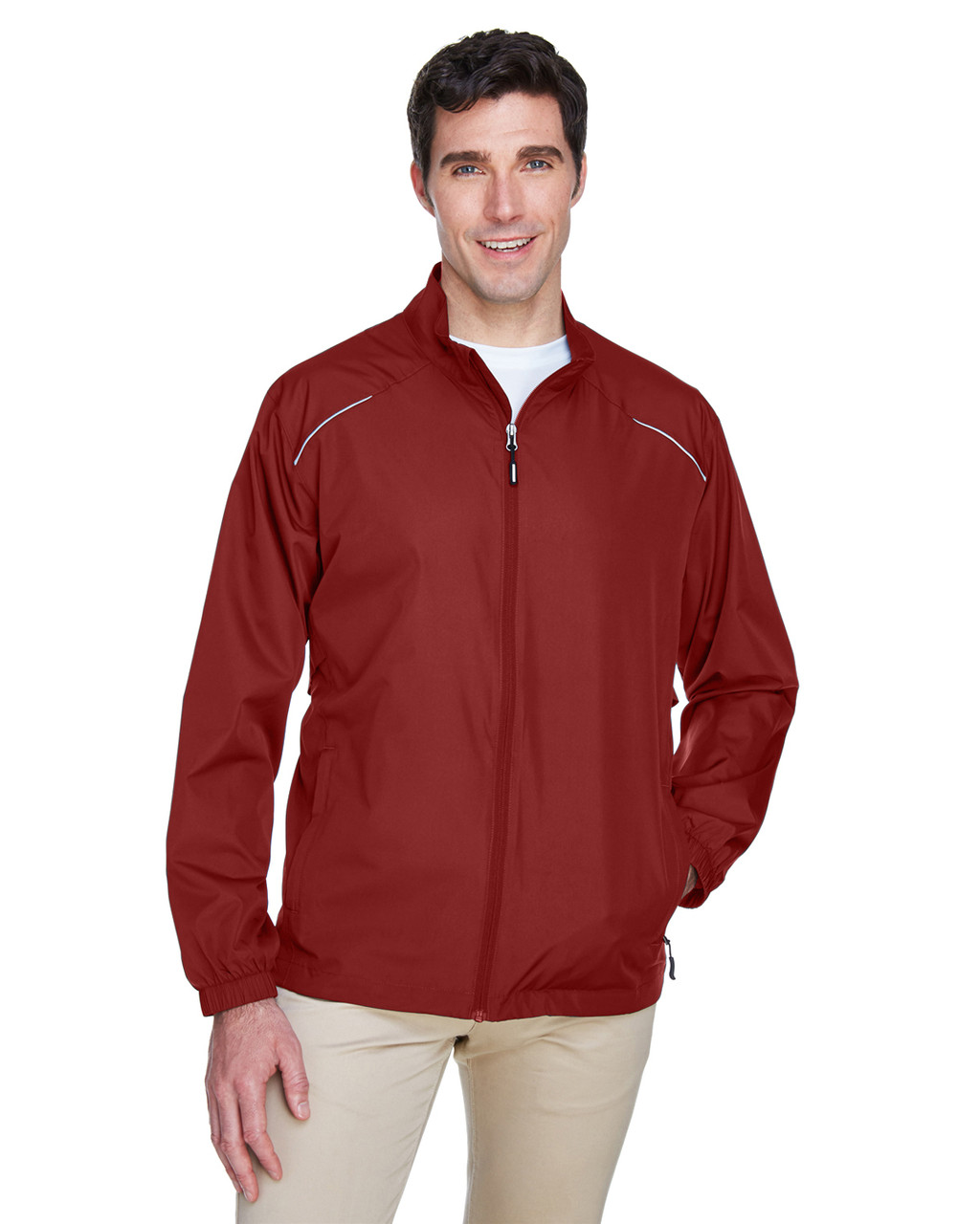 Classic Red - 88183T Ash City - Core 365 Tall Motivate Unlined Lightweight Jacket | Blankclothing.ca