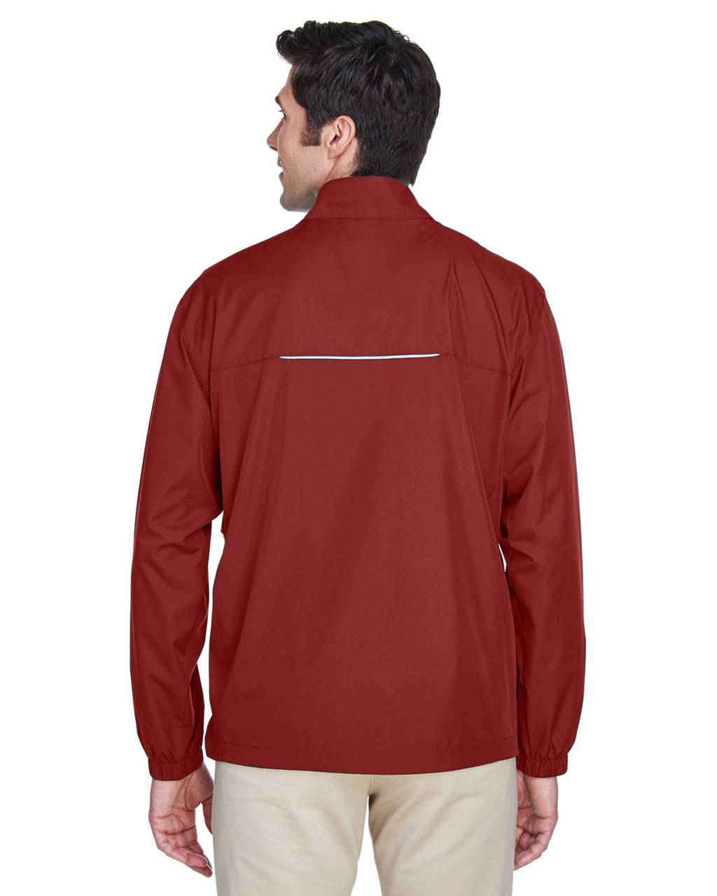 Classic Red - Back, 88183T Ash City - Core 365 Tall Motivate Unlined Lightweight Jacket | Blankclothing.ca