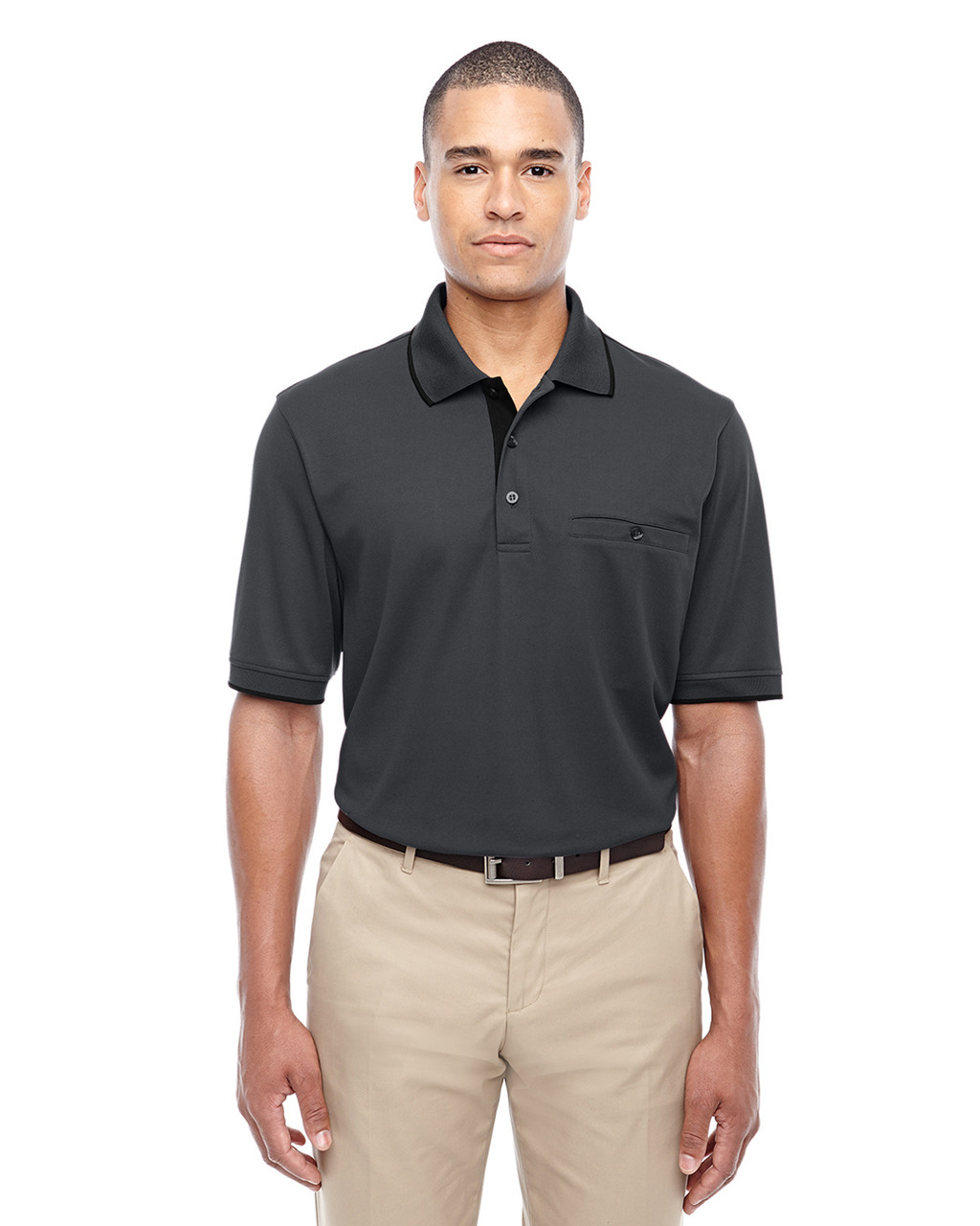 Carbon 88222 Ash City - Core 365 Men's Motive Performance Pique Polo Shirt with Tipped Collar   Blankclothing.ca