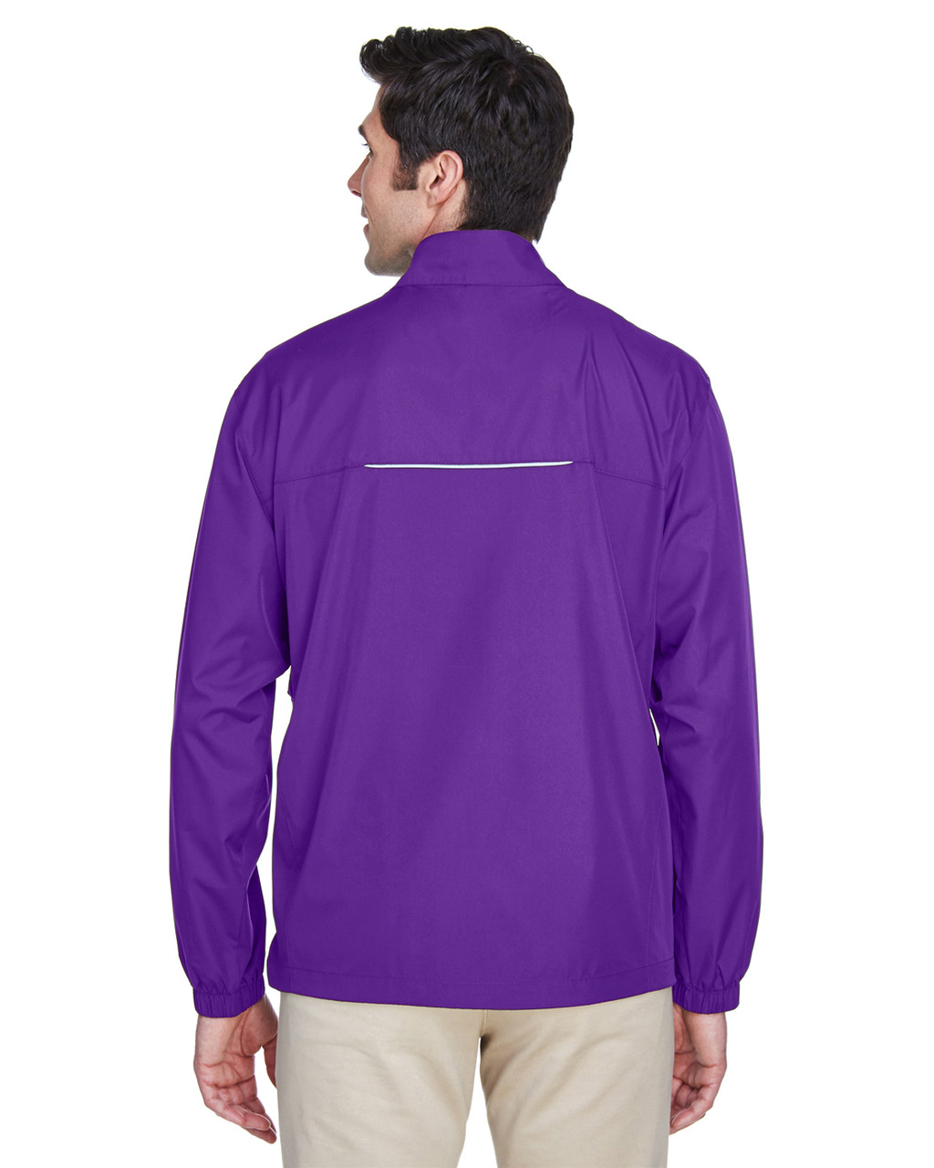 Campus Purple - Back, 88183 Ash City - Core 365 Motivate Unlined Lightweight Jacket | Blankclothing.ca