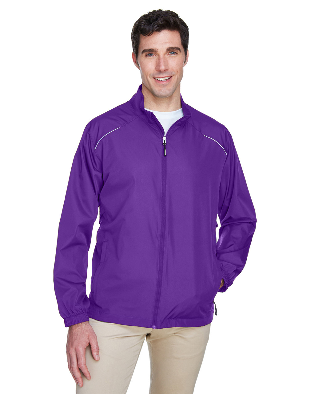 Campus Purple - 88183 Ash City - Core 365 Motivate Unlined Lightweight Jacket | Blankclothing.ca