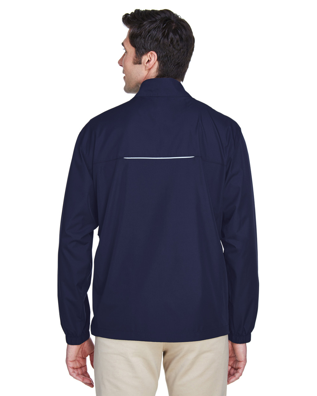 Classic Navy - Back, 88183 Ash City - Core 365 Motivate Unlined Lightweight Jacket | Blankclothing.ca