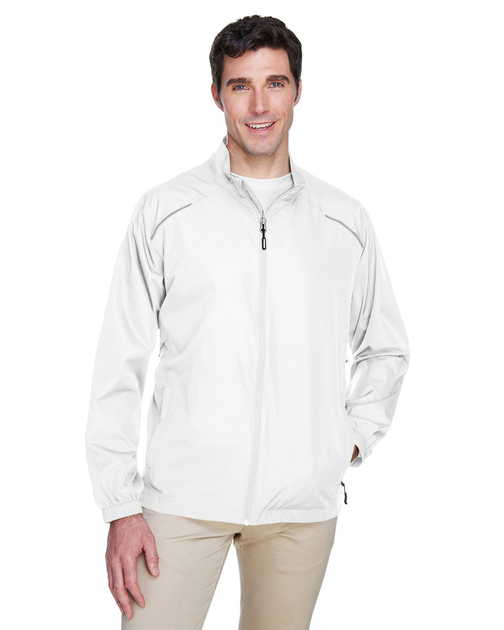 White - 88183 Ash City - Core 365 Motivate Unlined Lightweight Jacket | Blankclothing.ca