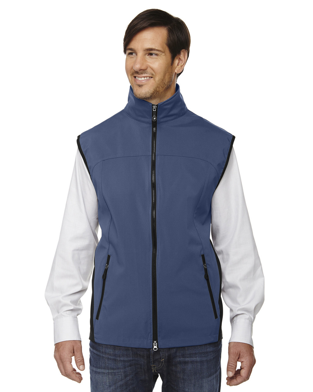Regata Blue - 88127 North End Men's Soft Shell Performance Vest | Blankclothing.ca