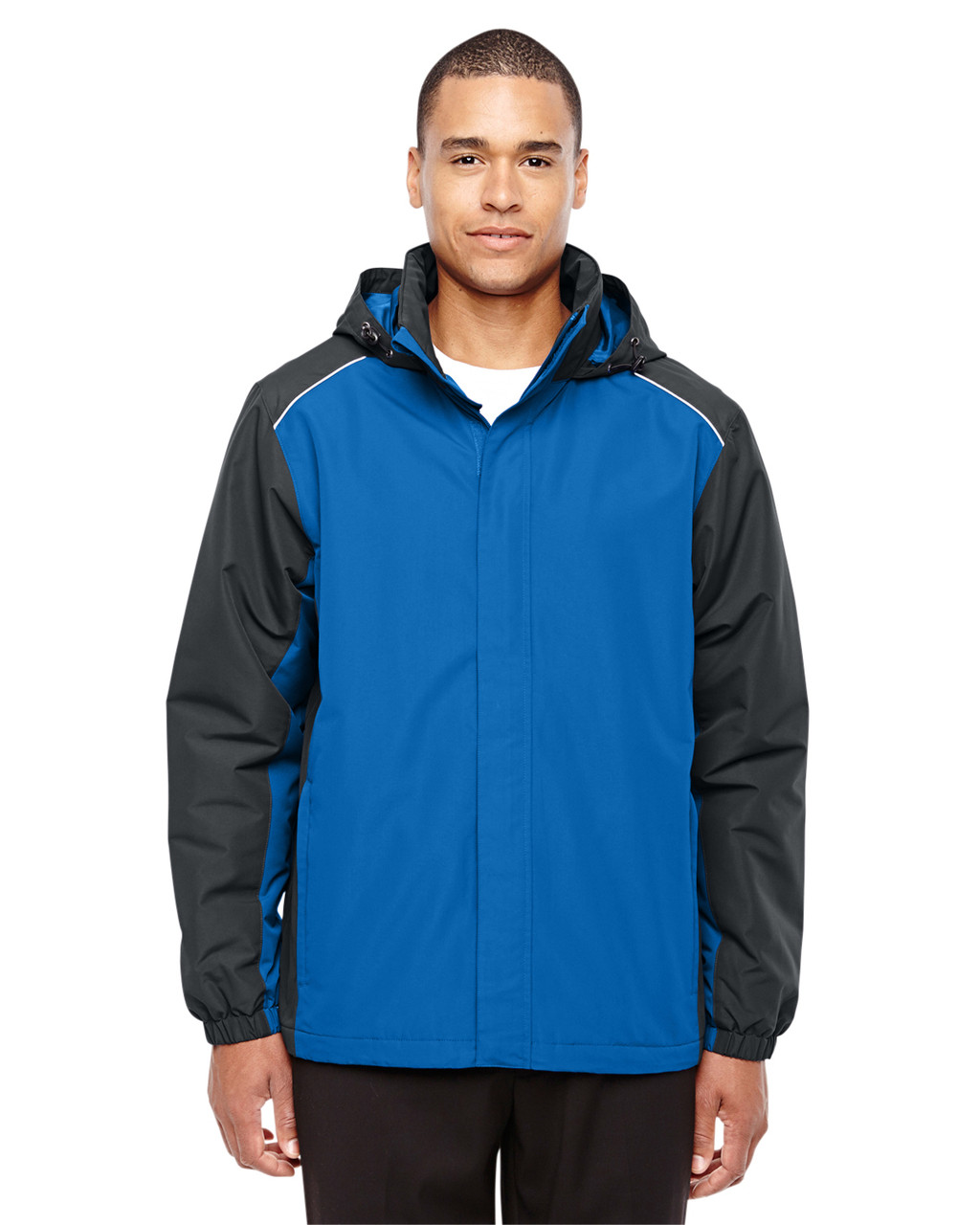 True Royal/Carbon - 88225 Ash City - Core 365 Men's Inspire Colorblock All-Season Jacket | Blankclothing.ca