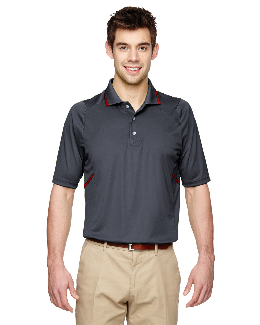 Carbon - Extreme Eperformance Propel Interlock Polo Shirt with Contrast Tape