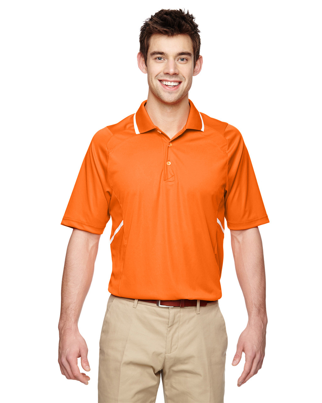 Amber Orange - Extreme Eperformance Propel Interlock Polo Shirt with Contrast Tape