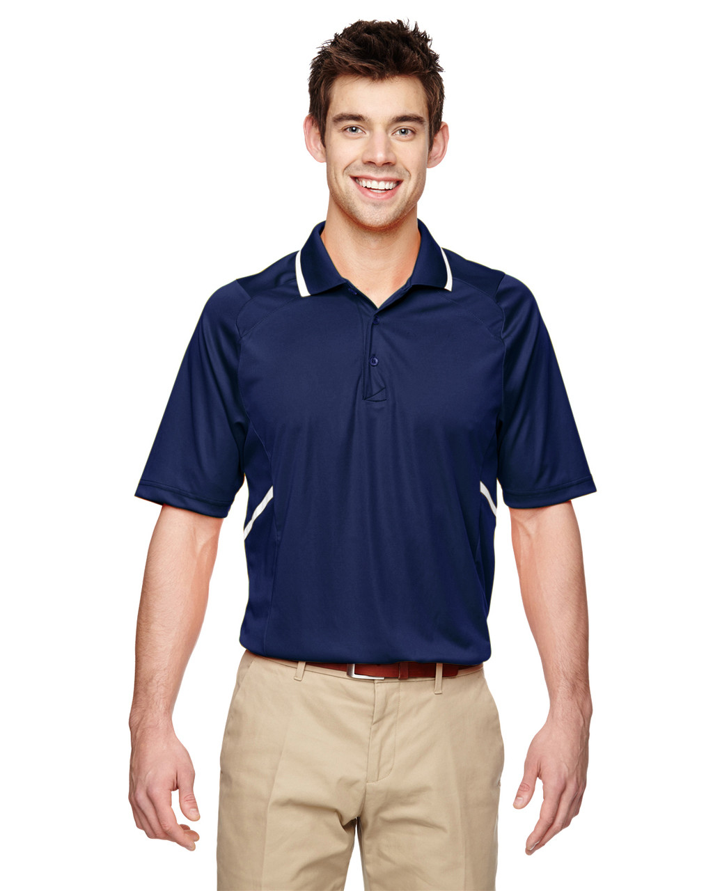 Classic Navy - Extreme Eperformance Propel Interlock Polo Shirt with Contrast Tape