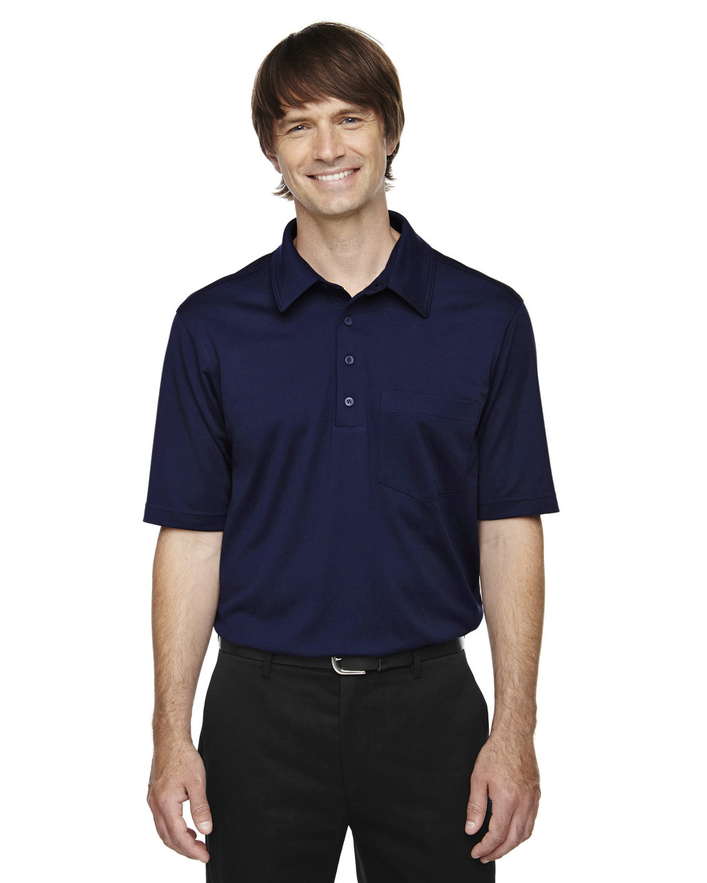 Classic Navy - 85114T Ash City - Extreme Eperformance Men's Tall Protection Plus Polo Shirt