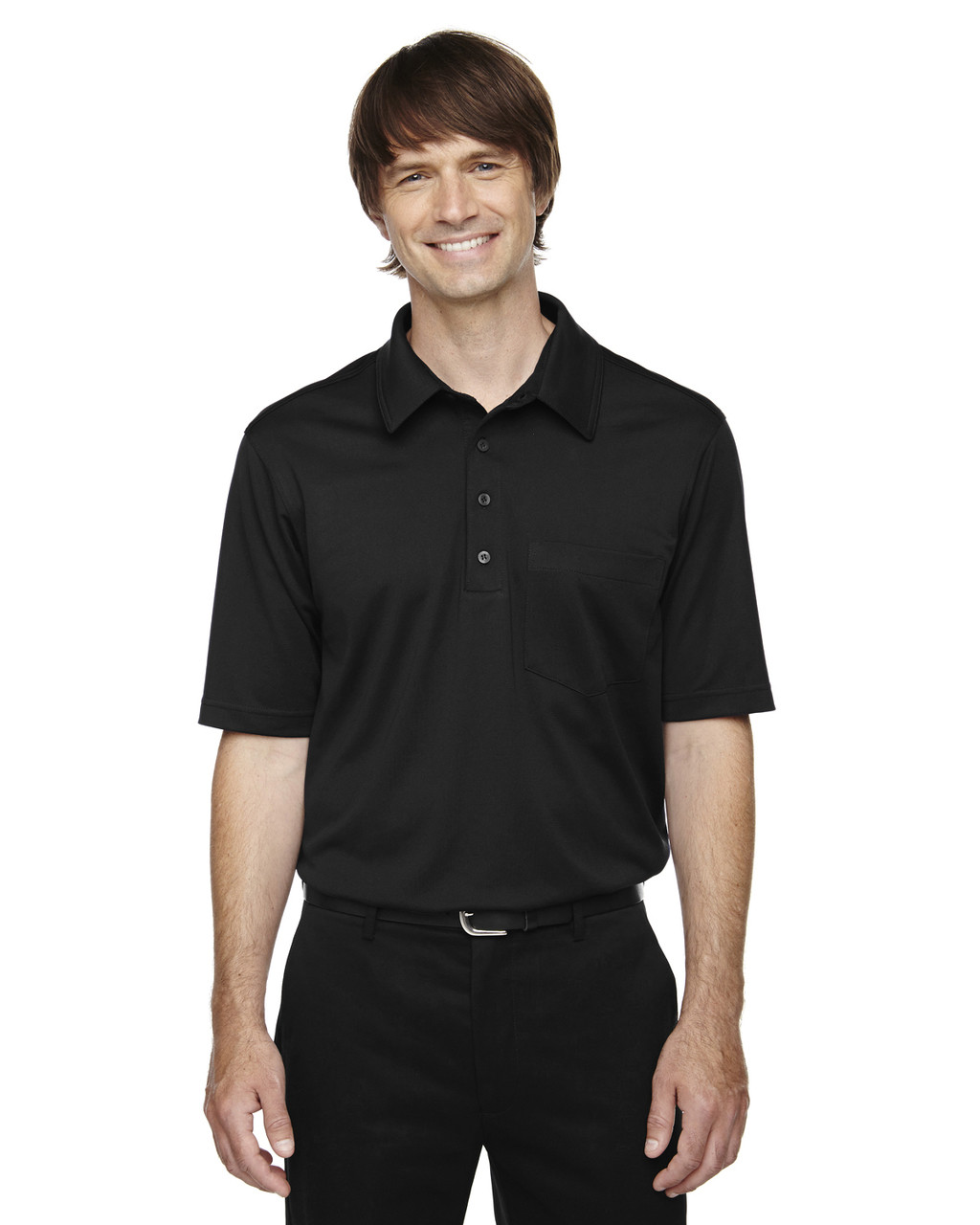 Black - 85114T Ash City - Extreme Eperformance Men's Tall Protection Plus Polo Shirt