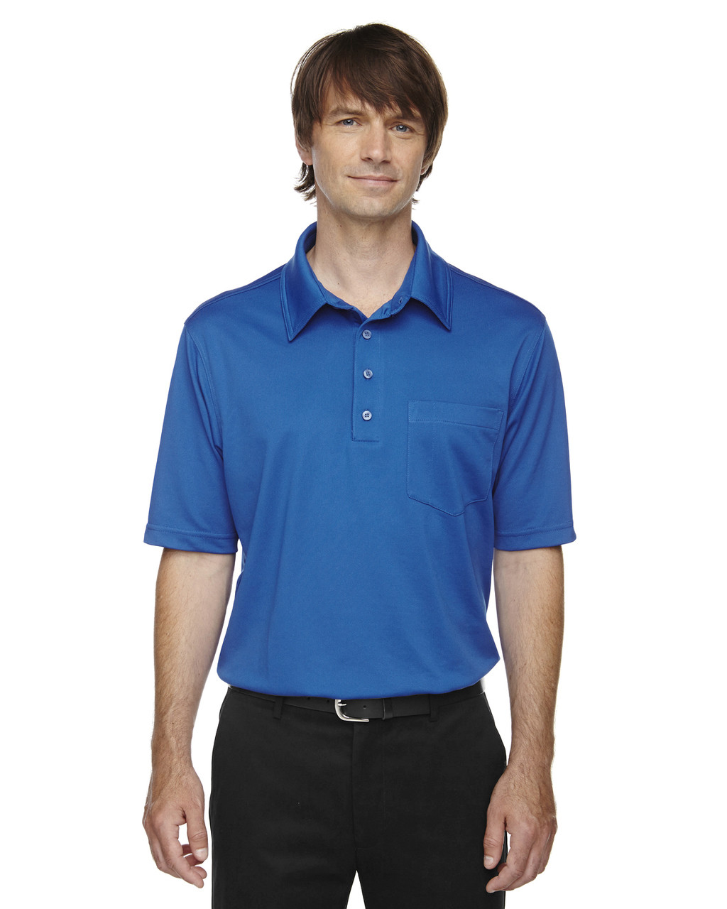 True Royal - 85114T Ash City - Extreme Eperformance Men's Tall Protection Plus Polo Shirt