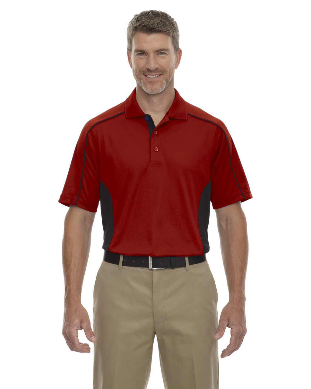 Classic Red - 85113 Ash City - Extreme Eperformance Men's Plus Colourblock Polo Shirt