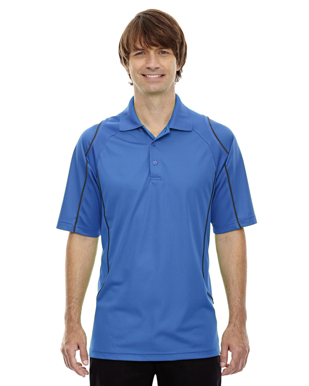 Ltnaut Blu - 85107 Ash City - Extreme Eperformance Men's Velocity Polo Shirt with Piping