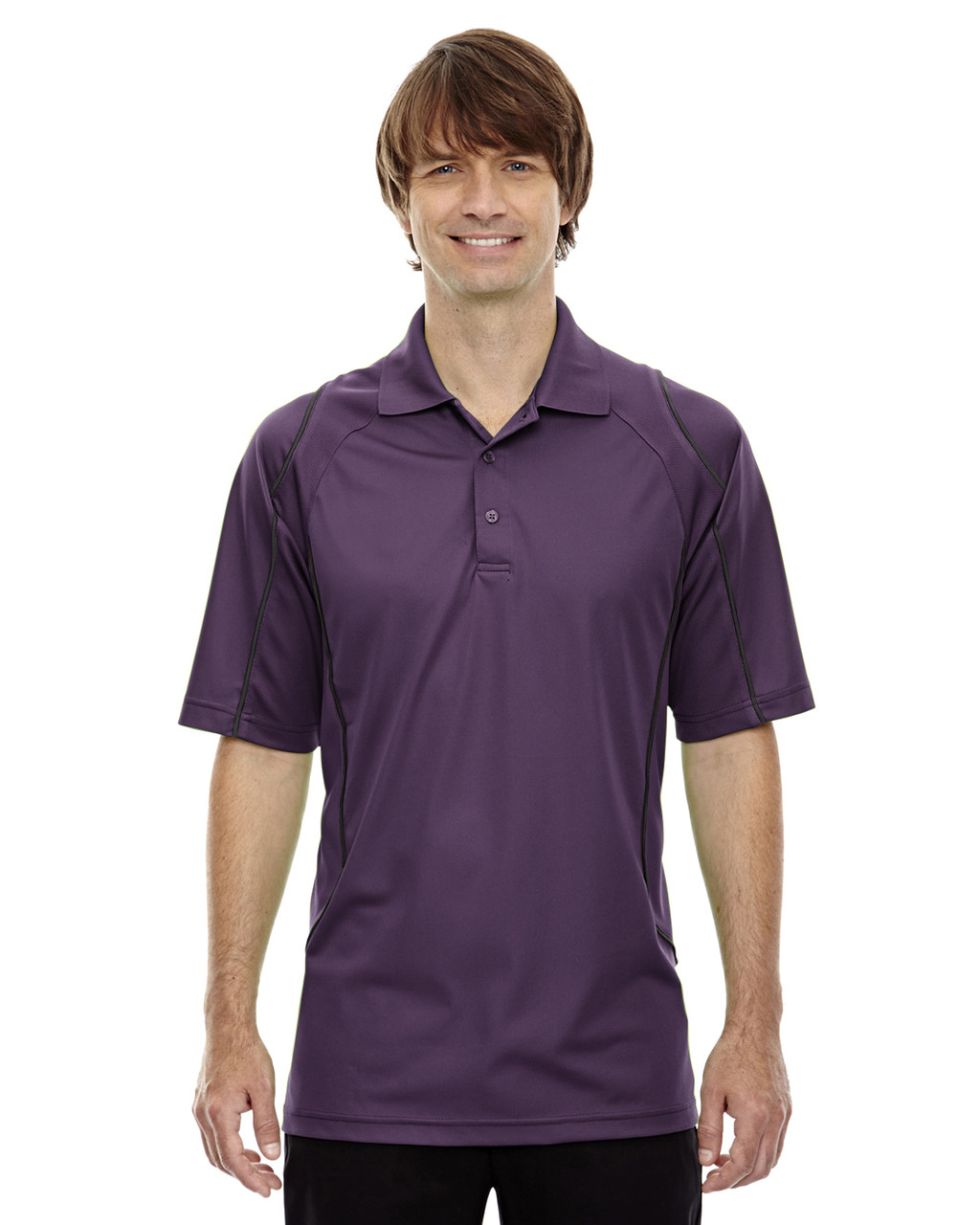 Mulbry Purpl - 85107 Ash City - Extreme Eperformance Men's Velocity Polo Shirt with Piping