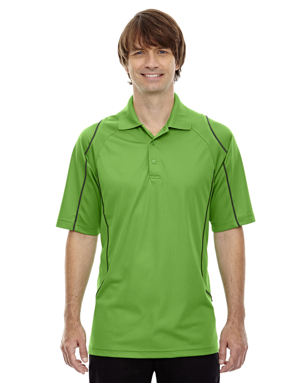 Vally Green - 85107 Ash City - Extreme Eperformance Men's Velocity Polo Shirt with Piping