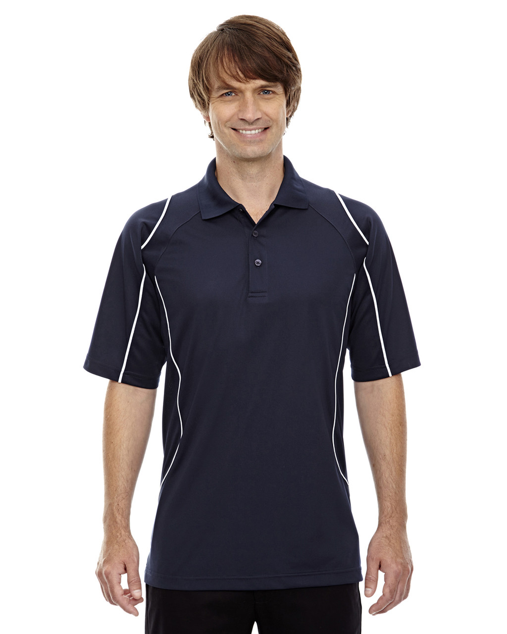 Classic Navy - 85107 Ash City - Extreme Eperformance Men's Velocity Polo Shirt with Piping