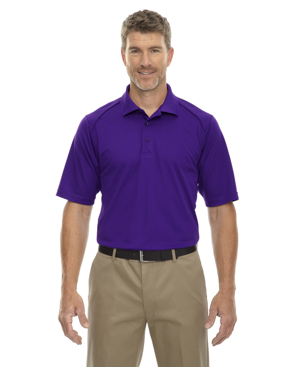 Campus Prple - 85108 Ash City - Extreme Eperformance Men's Shield Short-Sleeve Polo Shirt
