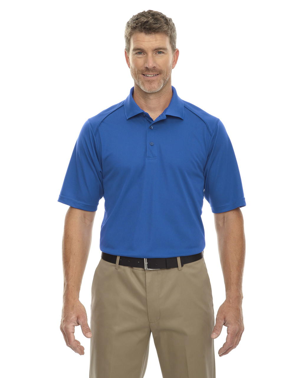 True Royal - 85108T Ash City - Extreme Eperformance Men's Tall Protection Short-Sleeve Polo