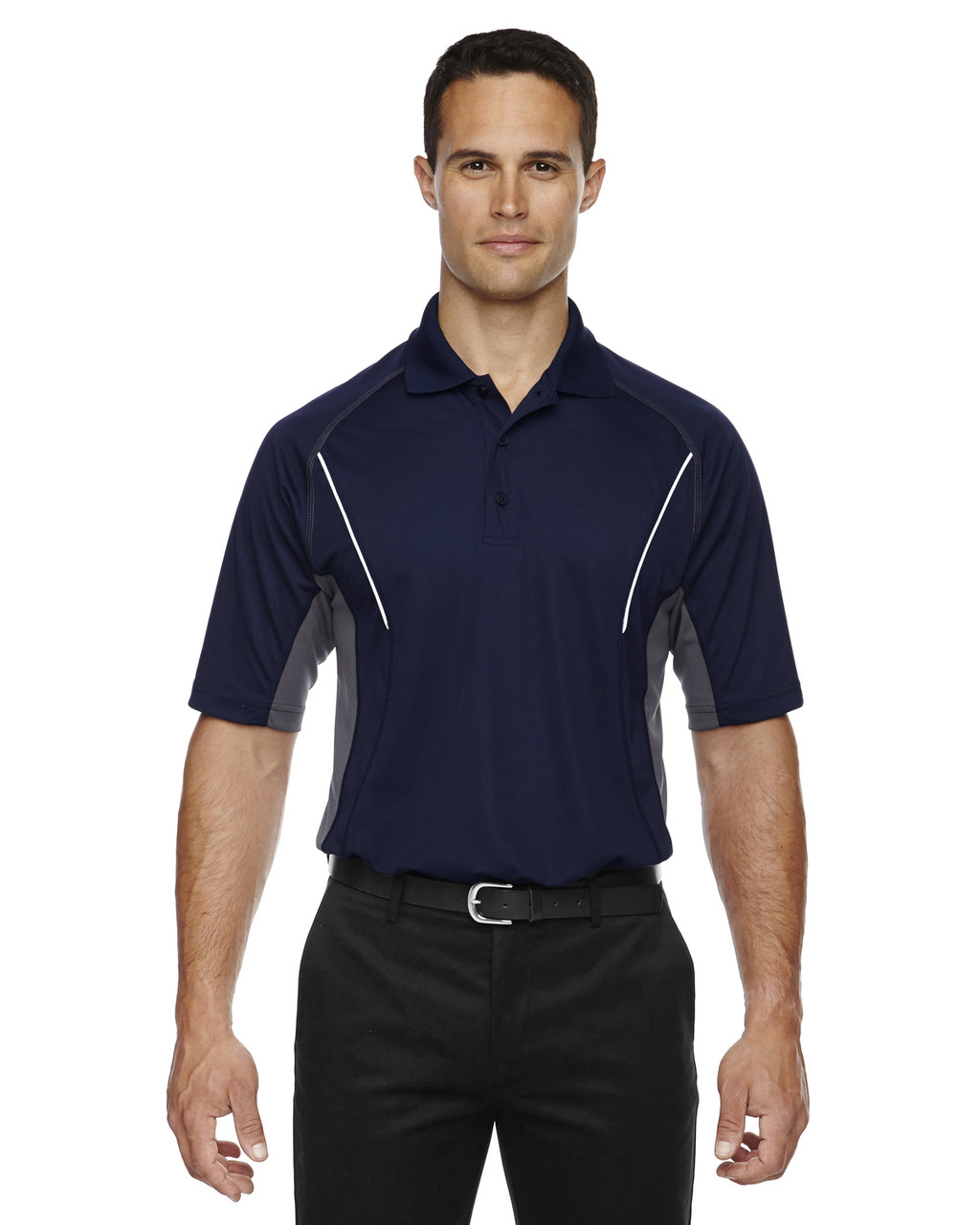 Classic Navy - 85110 Ash City - Extreme Eperformance Men's Parallel Polo with Piping