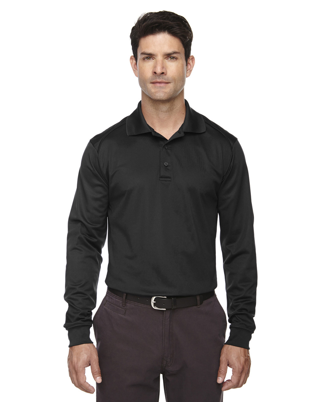 Black 85111 Ash City - Extreme Eperformance Men's Long-Sleeve Polo Shirt