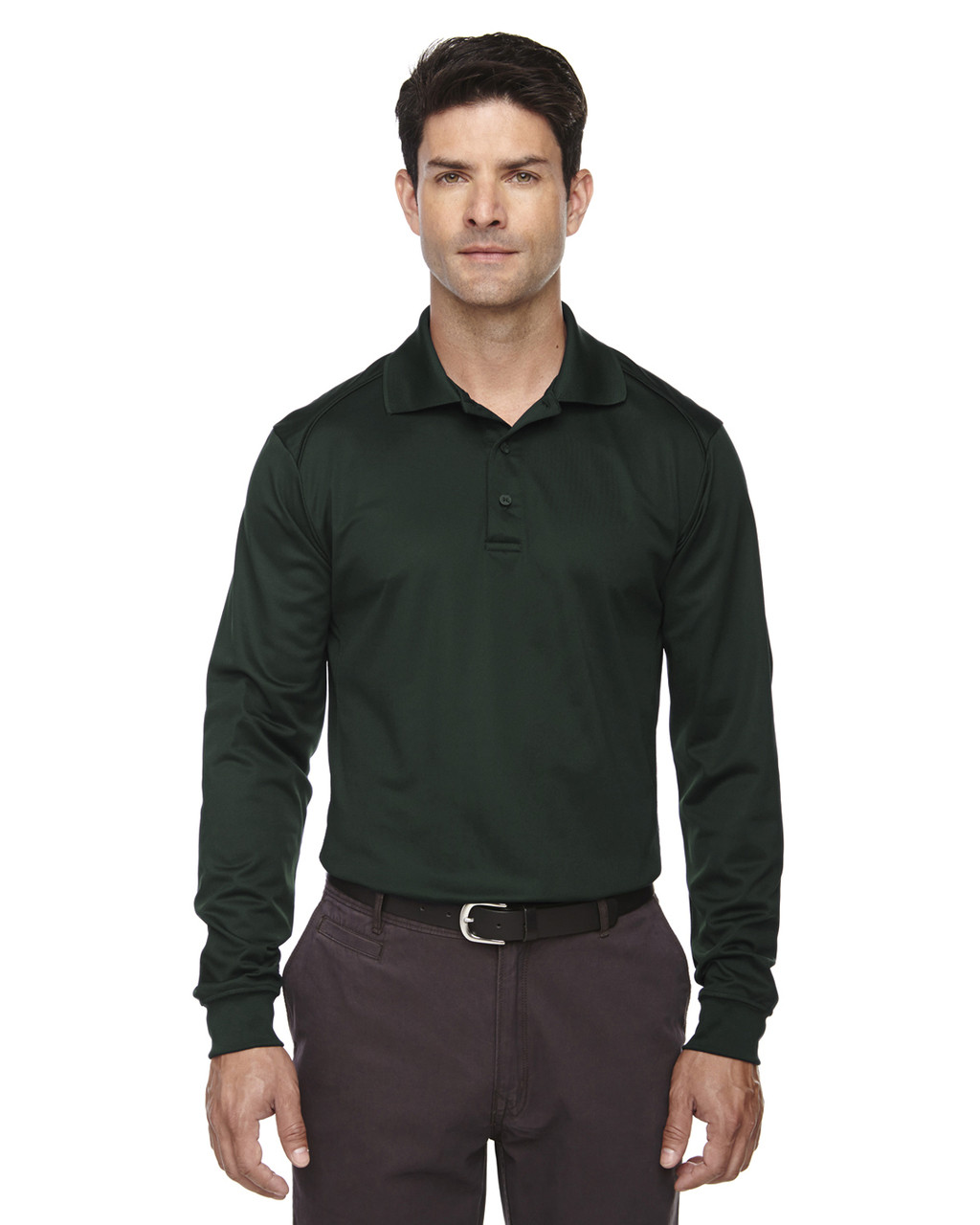 Forest Green - 85111 Ash City - Extreme Eperformance Men's Long-Sleeve Polo Shirt