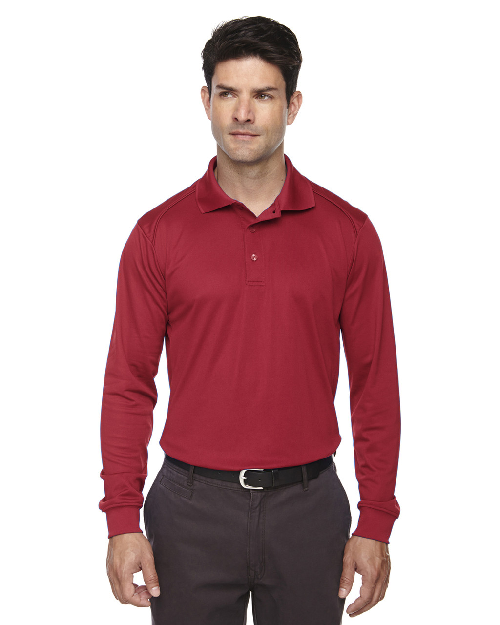 Classic Red 85111 Ash City - Extreme Eperformance Men's Long-Sleeve Polo Shirt